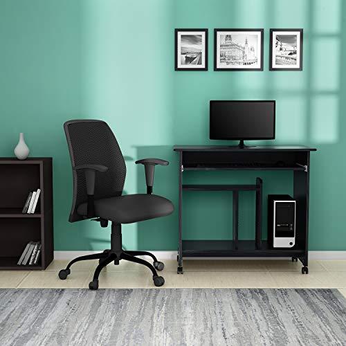 Godrej Interio Caliber Computer Desk (Black, Matte Finish)