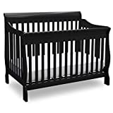 Delta Children Canton 4-in-1 Convertible Baby Crib, Black