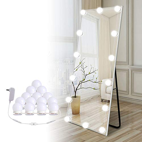 Hollywood Led Vanity Lights Strip Kit, with 14 Dimmable Light Bulbs for Full Body Length Mirror and Bathroom Wall...