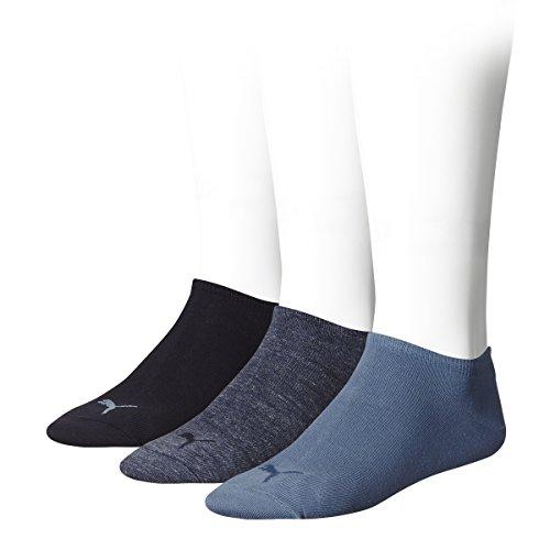 Puma Unisex - Calzini Sport, pacco da 3, Colore Blu (Denim Blue), Taglia 43-46 EU