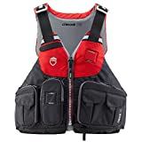 NRS Chinook OS Type III Outdoor Boating Fishing Life Jacket Vest PFD with Pockets, Large/X Large, Red
