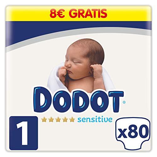 Dodot Sensitive Pañales Talla 1, 80 Pañales, 2-5kg