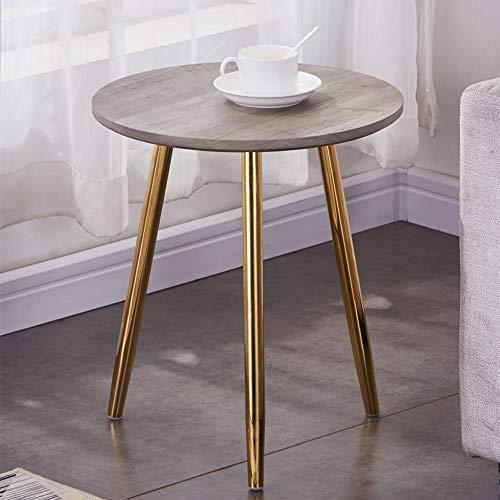 GOLDFAN Retr Legno Tavoline da Caff Piccolo Tavolino da Divano Rotondo Tavoline Salotto Comodino ,...