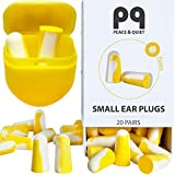 PQ Small Ear Plugs for Sleep - 20 Earplugs for Sleeping on Your Side, with Holding Case! Noise Cancelling Ear Plugs & Noise Reduction Earplugs - 32 dB