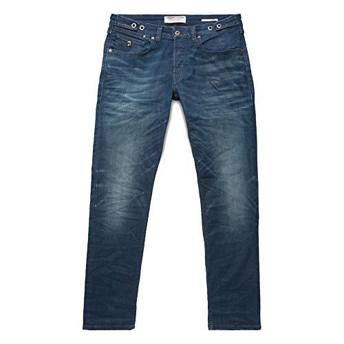 Kuyichi Herren Jeans Nick Straight Bio-Baumwolle, Lived IN-IV, 32/34