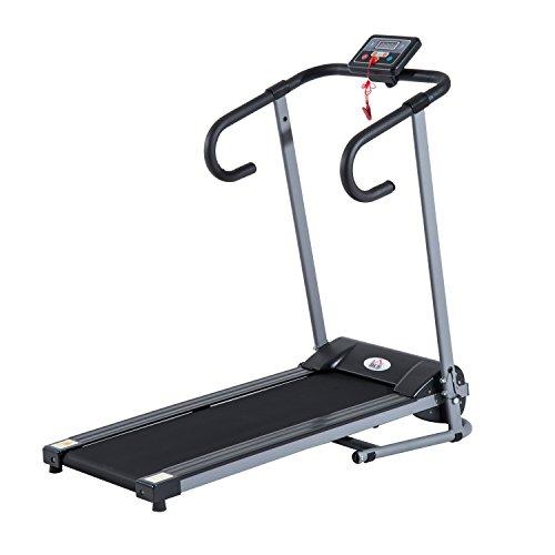 homcom - Tapis roulant Elettrico Attrezzo Ginnico richiudibile Attrezzo per lAllenamento Domestico Schermo LCD 500 W