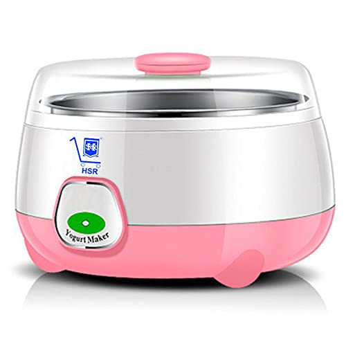 HSR Plastic and Stainless Steel 1 Liter Automatic Yogurt Maker (Assorted, 170x170x120mm),...