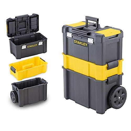 Stanley STST1-80151 Carrello porta utensili 3 in 1, 3 livelli di stoccaggio, Capacit di carico 20 kg