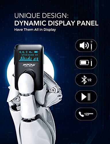 Product Image 4: Mpow Bluetooth Receiver, Bluetooth 5.0 Receiver with Display Screen, Bluetooth Aux Adapter with Noise Cancellation, 3D Surround Sound for Car Stereo