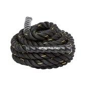 AmazonBasics 1.5 Inch Heavy Exercise Training Workout Battle Rope - 30 feet, Black