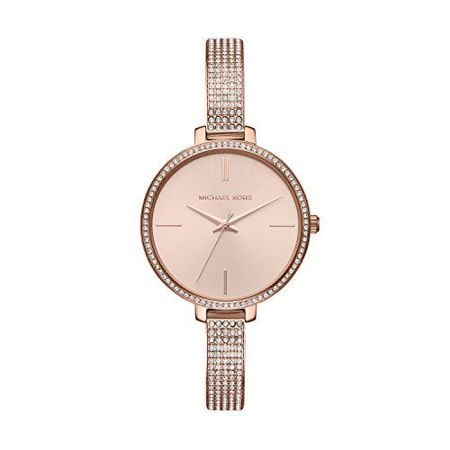 Michael Kors Damen Analog Quarz Uhr mit Edelstahl Armband MK3785