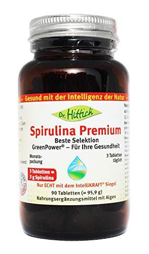 Spirulina Premium - 90 Tabletten - Spirulina: Das ÜBER-Lebensmittel aus grünen Algen. Entgiftung und Rundumschutz - Von Dr. Hittich