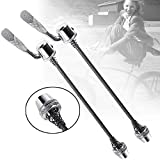 Quick Release Rear Wheel Skewer, Stainless Steel Bicycle Wheel Skewers for Road MTB Bicycle Front and Rear, Clip Bolt Lever Axle Trainer Bicycle Cycling Back Rear Wheel Tire(165mm)
