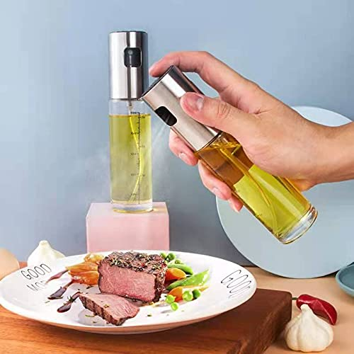 Botella de spray de acero inoxidable 304, aceite de cocina de cocina de fitness de barbacoa neumática aceite de aceite de oliva engrasador en aerosol