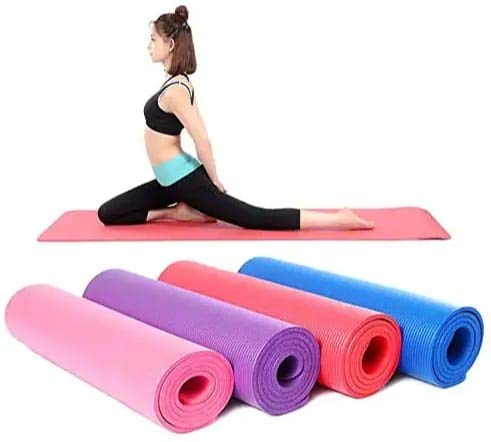 LR Decor Yoga Mat for Gym Workout and Yoga Exercise with 6mm Thickness, Anti-Slip Yoga Mat for boys and girls Fitness (Qnty.-1 Pcs.) (Multi)