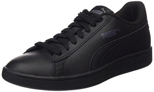 PUMA Smash V2 L, Zapatillas Unisex Adulto, Negro Black Black, 42 EU