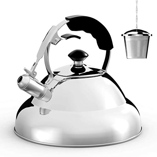 Tea Kettle - Stainless Steel Whistling Teapot with Capsule...