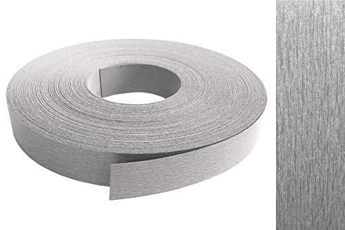 Decorazione effetto acciaio inox per i bordi dei mobili, adesivo per i bordi in melammina, diverse misure disponibili