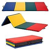 BestMassage Gymnastics Mat 4x8x2 Tumbling Mat Gym Mat Gymnastic Mat 4 Pannel Foldding Lightweight Tumbling Mat 2 Inches Thick Fitness Yoga Exercise Mat Home Gym Mat Equipment