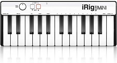 IK Multimedia iRig Keys MINI 25-key universal keyboard controller for iPhone iPad Android and Mac/PC