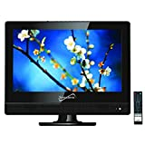 SuperSonic 13.3-Inch 1080p LED Widescreen HDTV HDMI AC/DC Compatible (Renewed)