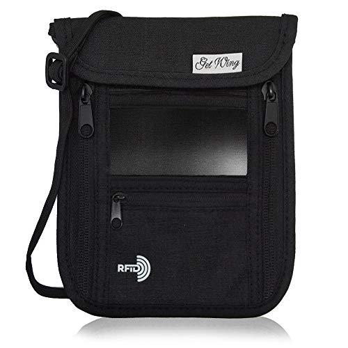 GetWing パスポートケース 首下げ スキミング防止 セキュリティポーチ パスポートカバー 軽量コンパクト 7...
