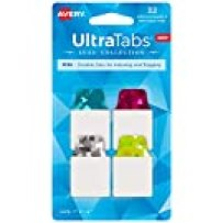 """Avery Mini Ultra Tabs, 1"""" x 1.5"""", Holographic Jewel Tone Colors, 32 Repositionable Page Tabs (74146)"""