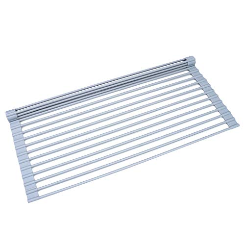 Wide Roll Up Dish Drying Rack 20.5' x 13', Silicone Coated...