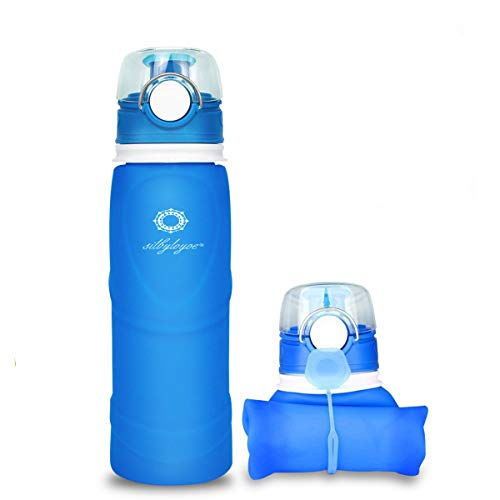 Silbyloyoe Silicone Water Bottle Foldable Collapsible Anti Leakage