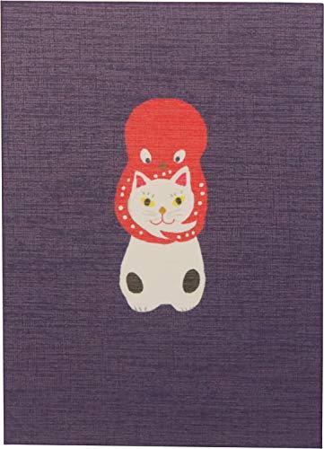 オリエンタルベリー てのひら御朱印帳 千代吉 猫に蛸 11×1.6×16cm GN-6949