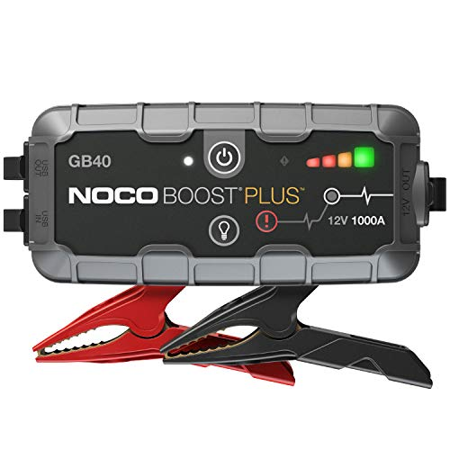 NOCO Boost Plus GB40 1000 Amp 12-Volt UltraSafe Portable Lithium Jump Starter, Car Battery Booster Pack, And Jump Leads For Up To 6-Liter Gasoline And 3-Liter Diesel Engines
