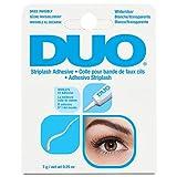 DUO Striplash Adhesive White/Clear, for Strip False Eyelash, 0.25 oz, 1-Pack