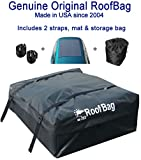 RoofBag Rooftop Cargo Carrier Bundle | Made in USA | Ships Today | 15 cu ft | Includes: Protective Mat + Storage Bag | Standard Waterproof Luggage Car Top Bag | Fits All Cars