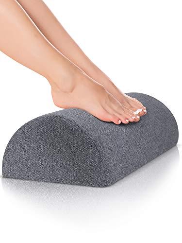 DYNMC you Fußablage als Bequeme Fußstütze Schreibtisch im Büro mit Oeko TEX Bezug - Fußhocker Formstabile Fußablage & Fußkissen unterm Schreibtisch ohne verrutschen - Fußbank als Footrest