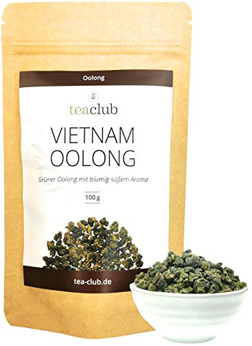 Grüner Oolong Tee Lose aus Vietnam 100g, Oolongtee Blumig-Süßlich Halbfermentierter Grüntee, TeaClub Green Tea