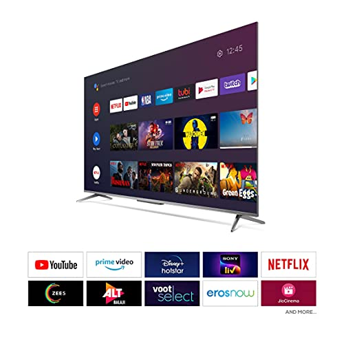 41q2UNjYdJS TCL 139 cm (55 inches) AI 4K Extremely HD Licensed Android Sensible LED TV 55P715 (Silver) (2020 Mannequin)   With Distant Much less Voice Management