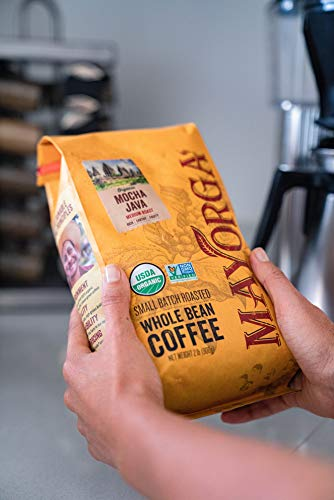 Mayorga Organics Mocha Java, 2lb Bag, Medium Roast Whole Bean Coffee, Specialty-Grade, 100% USDA Organic, Non-GMO Verified, Direct Trade, Kosher 3