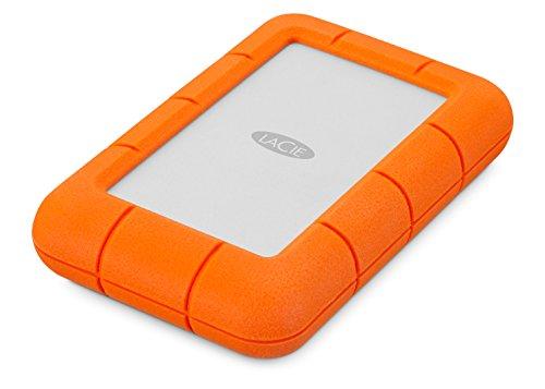 LaCie LAC9000633 Rugged Mini Hard Disk Esterno da 4 TB (2 x 2), USB 3.0, Arancione/Grigio