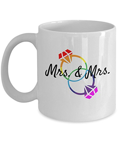 Lesbian Couple Mrs. & Mrs. Wedding Engagement Marriage...
