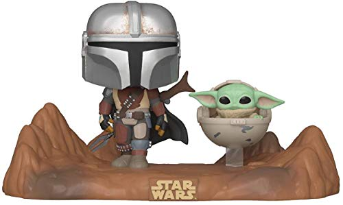 Funko- Pop Moment: Mandalorian-Mandalorian & Child Figura Coleccionable, Multicolor (49930)