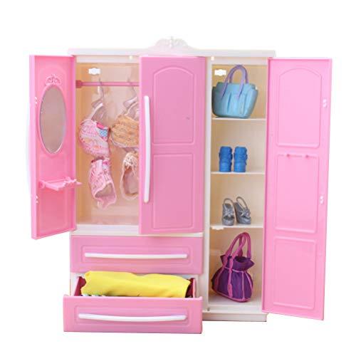 Egosy Mini Armadio per Bambola Armadio per Bambola Accessori per Bambola Armadio per Bambole