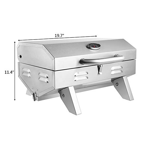 Product Image 7: ROVSUN Portable Propane Gas Grill 12,000BTU, Tabletop Outdoor Cooking Grill for Picnic Camping Tailgating Patio Garden BBQ, <a href=