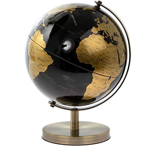 Globe Monde Petit & Pavey, Doré et Noir, 19 cm