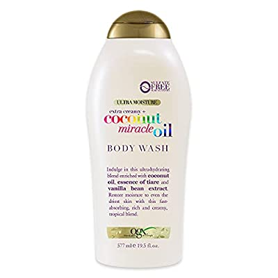 MOISTURIZING BODY WASH: Envelop your body in moisture with this creamy, ultra-hydrating blend. Massage generously all over body in the shower. For best results exfoliate with OGX Coconut Miracle Oil Polishing Body Scrub and follow with Miracle Oil Lo...