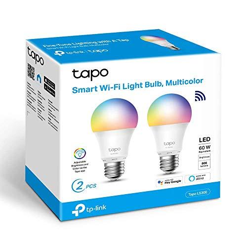 TP-Link - Bombilla LED Inteligente, Bombilla WiFi, Multicolor,...