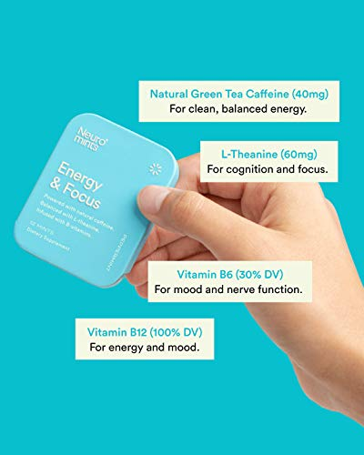 NeuroGum Nootropic Energy Gum | Caffeine + L-theanine + B Vitamins | Sugar Free + Gluten Free + Non GMO + Vegan | Enlighten Mint Flavor (108 Count) 5