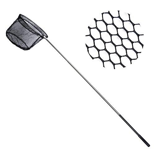 Retino da pesca pieghevole in acciaio INOX manico allungabile antiscivolo
