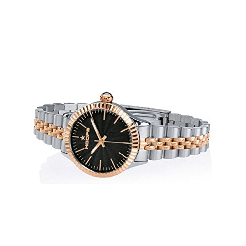 Orologio Donna Luxury Silver & Gold Nero 2560LSRG-02 - Hoops