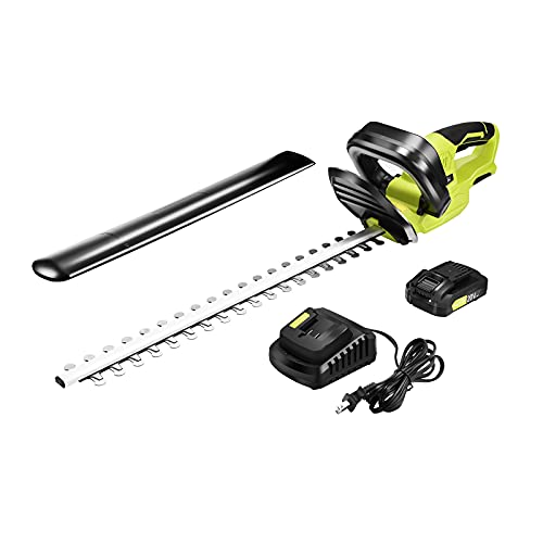 """Cordless Hedge Trimmer, Lightweight Electric Hedge Trimmer kit with 22"""" Dual-Action Blade, 20V Lithium-Ion Power Bush Hedge Trimmer for Yard & Garden Care,Powerful Battery and Charger Included"""