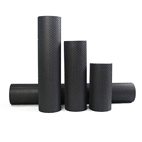 Bodylastics EVA Dotted Foam Roller for Deep Tissue Massage, Relief from Sore Muscles Pain, Pre & Post Exercise Fitness Workout Sessions (Black, 30cms (12 Inches))